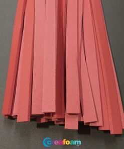Foam Strips Wine Red