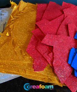Glitterfoam resten 4 kleuren